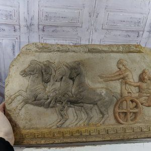 Four Horses and Romans Chariot Wall Hanging Decor
